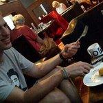 The Swiss man very much enjoyed his Tuna Melt