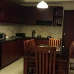 The kitchen/dining area