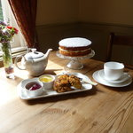Afternoon tea and home-made cakes on arrival