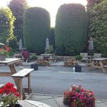 Part of the lovely garden seating area