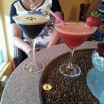 Espresso martini and Strawberry daiquiri