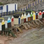 The local area (beach huts on the beach)