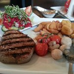 Grilled steak at The Pheasant