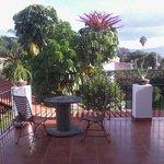 Von unserem Zimmer der Balkon