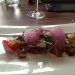 Beetroot and goat's cheese starter