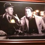 Bourvil and Gabin are part of the decor!!  Awesome.