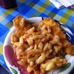 great cod - shame about the batter and chips!