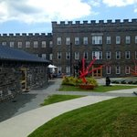 Cocoon (left) was built as a silkworm facility for the Silk Mill, the largest bluestone building