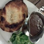 Steak and ale pie for dinner - local pub