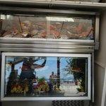 Sea food show case