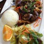 Eggplant & shrimps