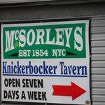 Parking lot sign at Knickerbockers Tavern