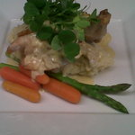 Yummy stuffed Chicken with a leek cream