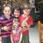 Paula the waitress with our boys