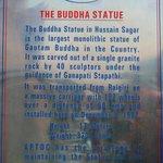 Information board of Statue...