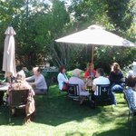 bridal shower in garden