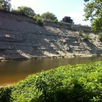 A section of the Rocky River that you can paddle.   The  river downstream, near the Lake, is mar