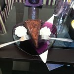 Nutellato cake slice