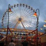 A view of the Wonderland Ferris Wheel.