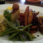 Yet another trip Ruby Tuesday's, never a disappointment. This time Medallions of pork in a Roque