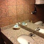bathroom amenities lacking