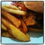 Sophellie's Burger, Chips & Salad