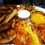 Sweet Chilli Parmo, Chips & Salad
