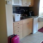 Kitchenette was more modern than full kitchen in 1-bedroom