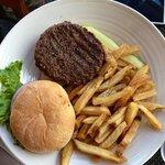Hamburger and fry