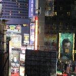 Vista del Times Square desde el living