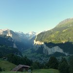 From the train down to Lauterbrunnen