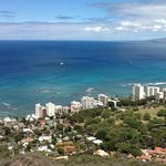 View from on top of Diamond Head. I can see Diamond from my balcony!
