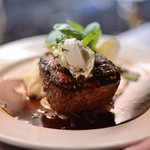 Filet Mignon with Blue Cheese Bacon Butter