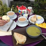 Soup, sarnie, scone & tea