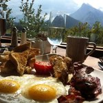 """the """"Mountaineer Breakfast"""" with view"""