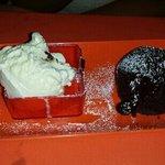 moelleux au chocolat et se glace vanille