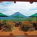 Tres Cascadas terrace view