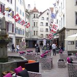 Street scene in old town Chur