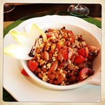 Salade met bonen en farro