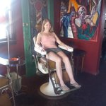 Me in a Black Dog Barber Shop chair