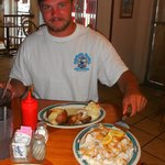 The spear fisherman - our first meal of a Keys favorite - hogfish