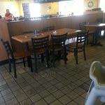 Every table in the place was dirty