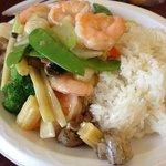 shrimp & mixed veggies