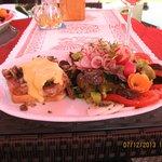 Presentation of Evening Dinner at Hotel Restaurant
