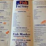 Fish Factory menu