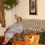 Mom relaxing in the living area