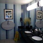 Restroom near pool area (clean)