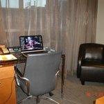 Desk area in bedroom, suite 716