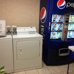 coin-operated washer and dryer on 3rd floor! Awesome! Remember to bring laundry detergent.