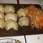 Momo dumplings, three kinds.